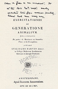 Title-page of Dr. Cutter's copy of Harvey's <em>De generatione</em>