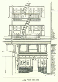 Exterior view of John Howell—Books, at 434 Post Street, San Francisco