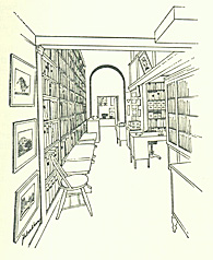 Interior view, looking toward Warren Howell's office