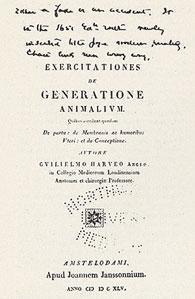 Title-page of Dr. Cutter's copy of Harvey's <em>De generatione</em>