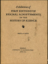 Exhibition of First Editions of Epochal Achievements in the History of Science (1934)